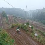 雨の 成田モトクロスパークと、MAGURA BLOOD交換