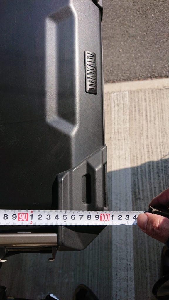 V-Strom650XT SW-MOTECH TRAX ADVENTURE 最大幅101cm