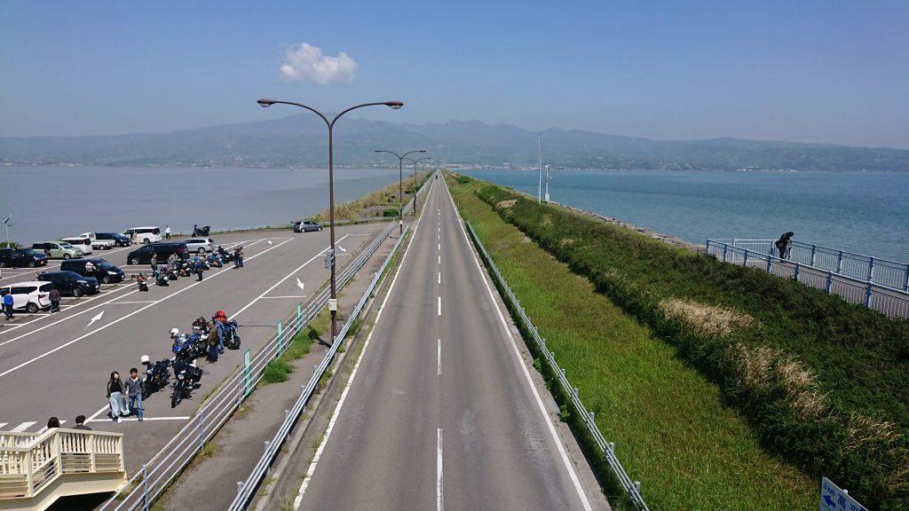 諫早湾干拓堤防道路